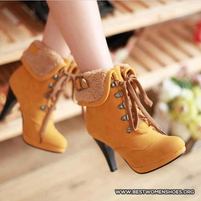 tan timberland heels for ladies