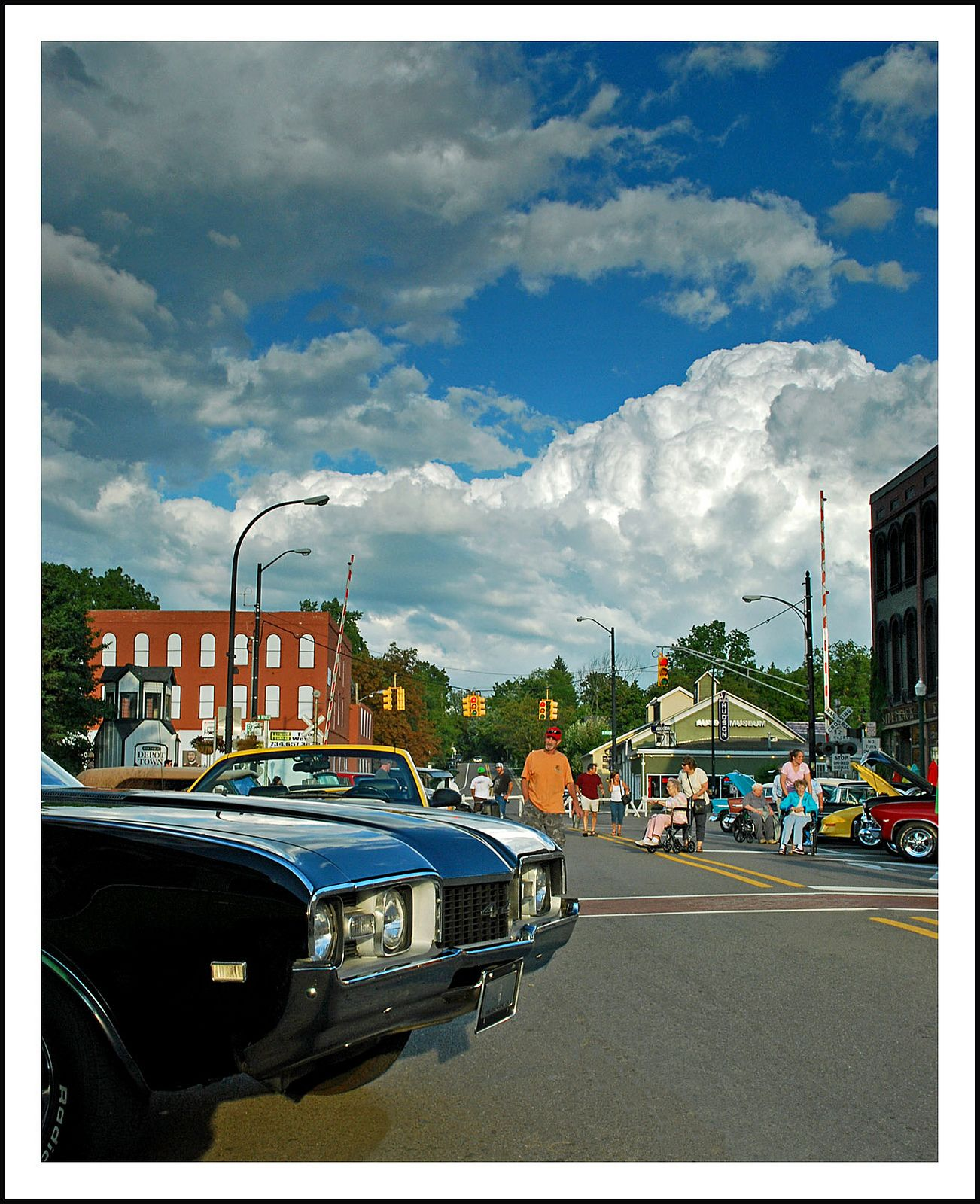 Cottage cheese clouds over Depot Town | by sjb4photos