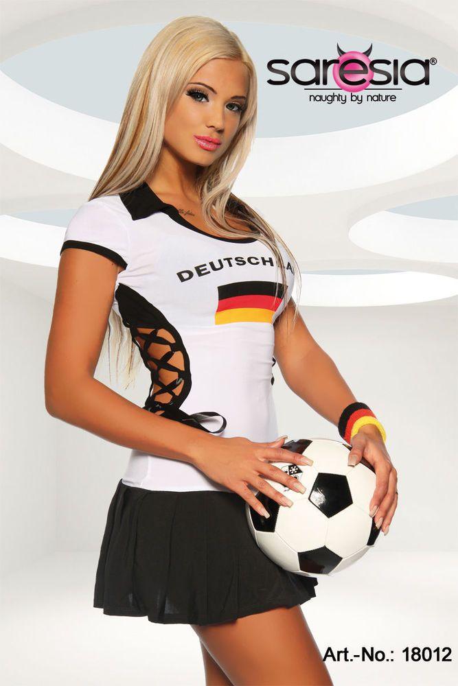 Details zu Fußball Trikot Kleid Gogo Kostüm Damen Deutschland ...