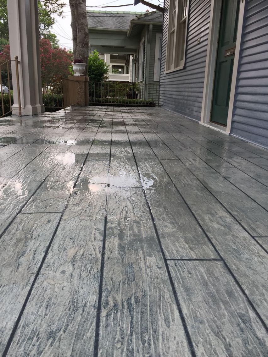 Decorative Concrete Weathered Wood Plank Deco Crete
