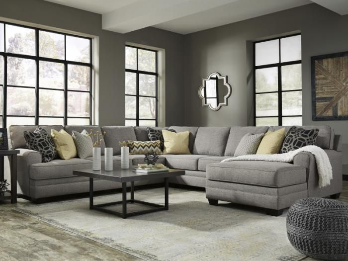 Stencil Pewter 5 Piece Sectional Taft Furniture Showcase Living Room Grey Living Room Sofa Brown Living Room #taft #furniture #living #room #sets