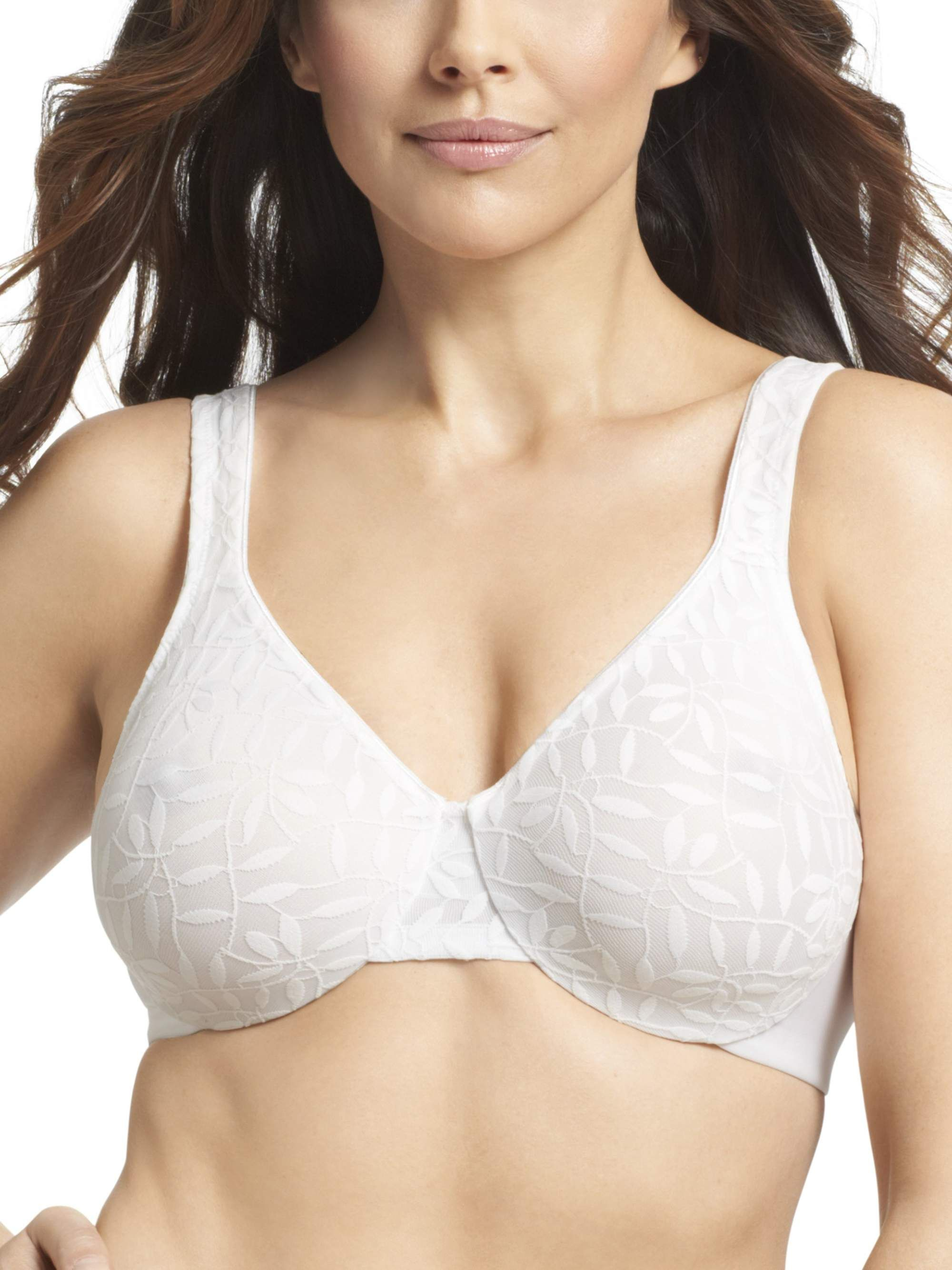 ca42c93631 Women s Plus Lace Sheer Leaves Underwire Minimizer Bra