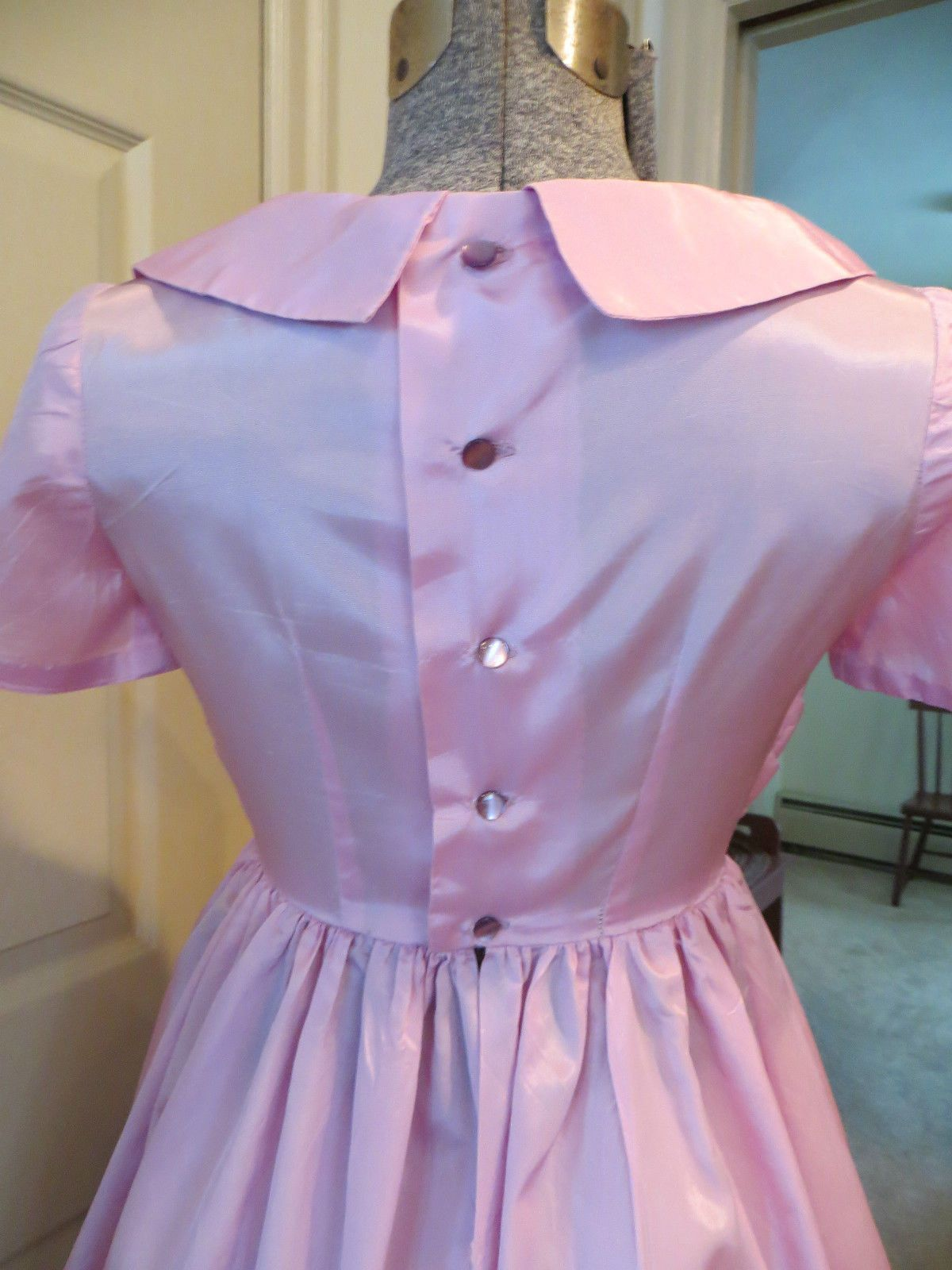 VTG. 50\'S 60\'S HAND MADE SATIN PARTY WEDDING DRESS | eBay | The ...