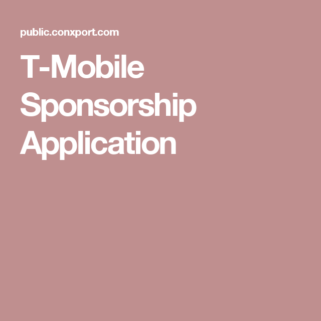 TMobile Sponsorship Application Sponsorship, Milwaukee