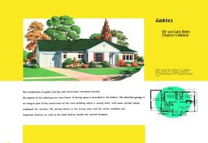 See floor plans and historic advertising flyers for Ranch houses built during the 1950s. Learn about mid-twentieth century housing in the USA.: Hip and Gable Modernity