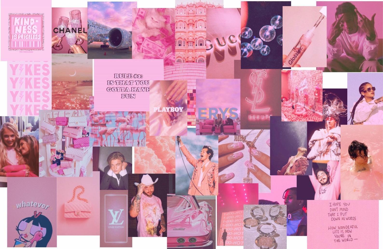 Pink Collage Computer Wallpaper Pink Collage Computer Wallpaper Novocom Top pink collage computer wallpaper