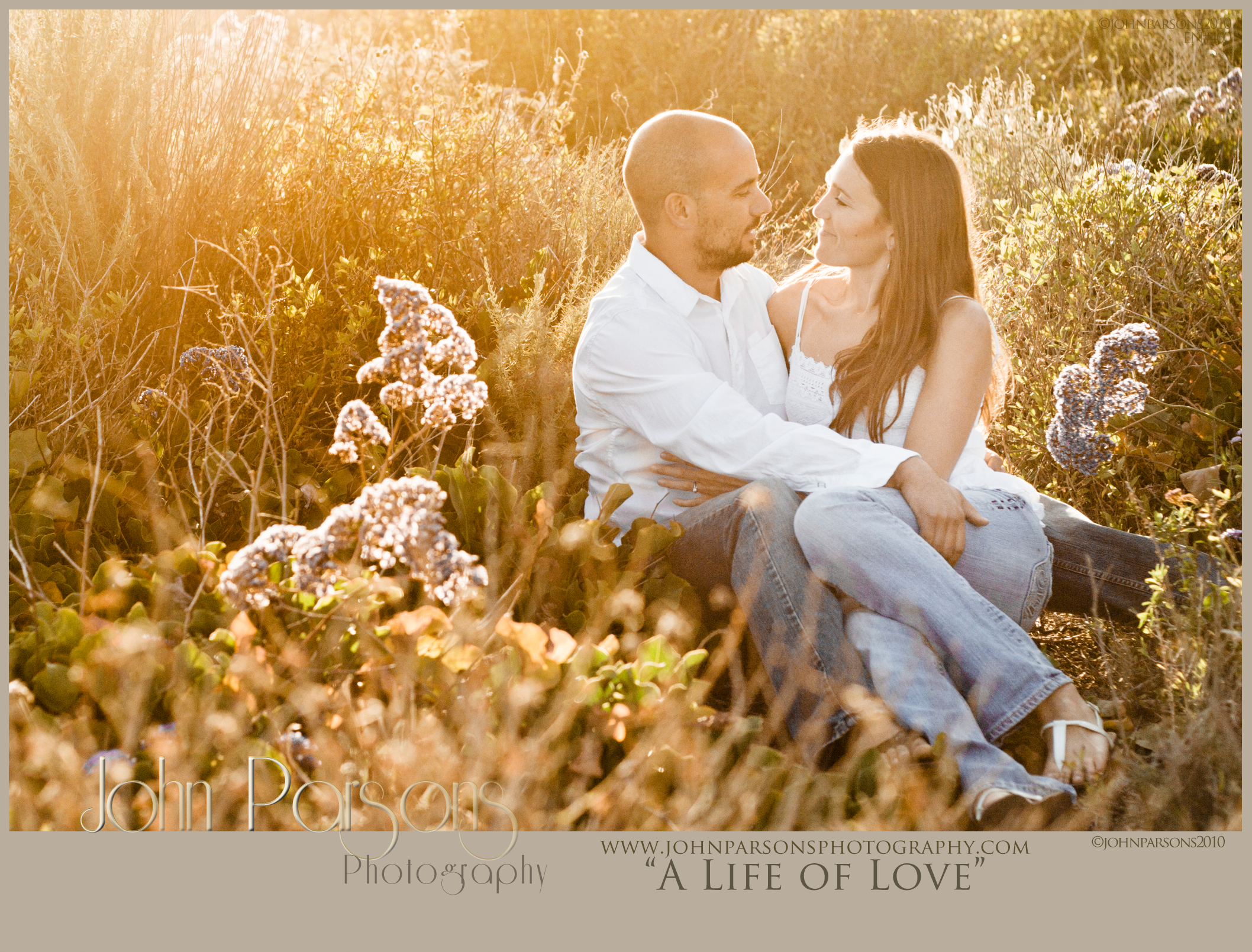 """A Life of Love"" Picture Code: EN#400 Photo Location: Costa Mesa, CA  Photographer: John Parsons Producer: David Parsons Company: John Parsons Photography Copyright: 2010  To schedule a Creative Brief for your romantic portraits, engagement photos, or wedding photography contact us at: Phone - (424) 234-3373 Email - David@JohnParsonsPhotography.com  For more info and to follow us visit us at: Website - JohnParsonsPhotography.com Instagram - @JohnParsonsPhotography Twitter - @JParsons_Photo"