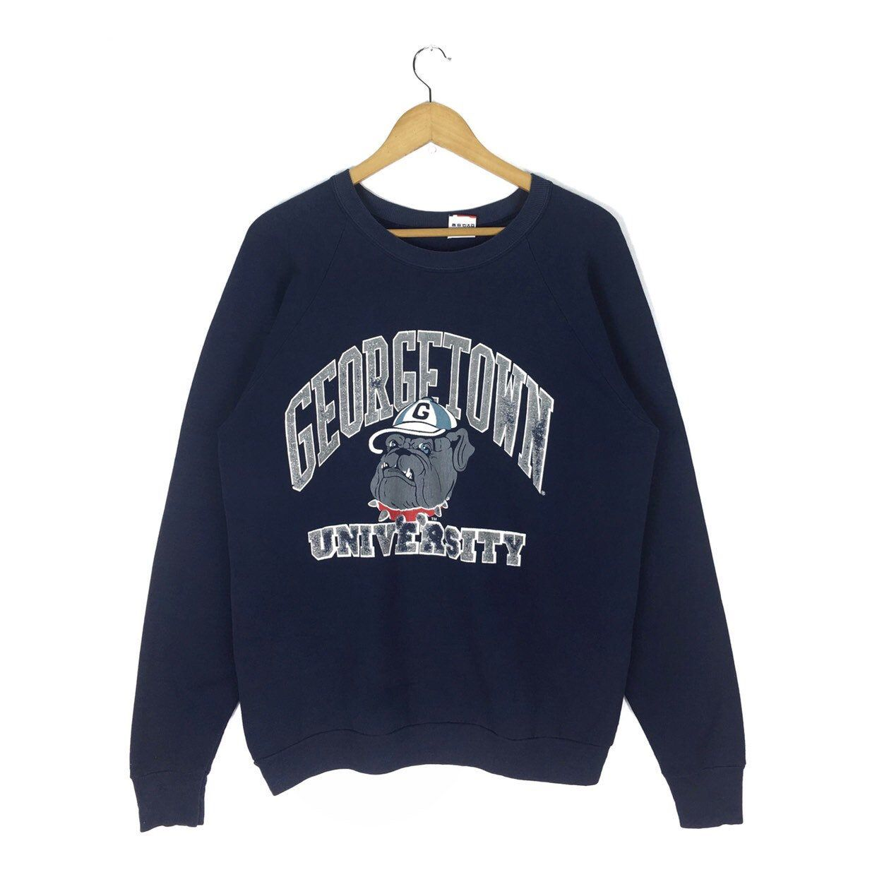 Vintage 90s Georgetown University Football Sweatshirt Crewneck Etsy Sweatshirts Football Sweatshirt Edgy Outfits [ 1242 x 1242 Pixel ]