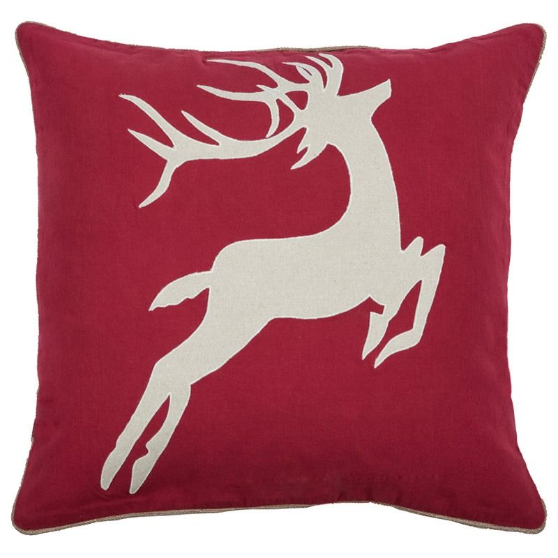 Snuggle up with Rudolph all winter long. Rudolph Red Pillow | Weekends Only Furniture and Mattress