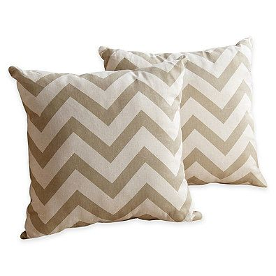 Abbyson Living® 18-Inch Declan Square Pillow (Set of 2)
