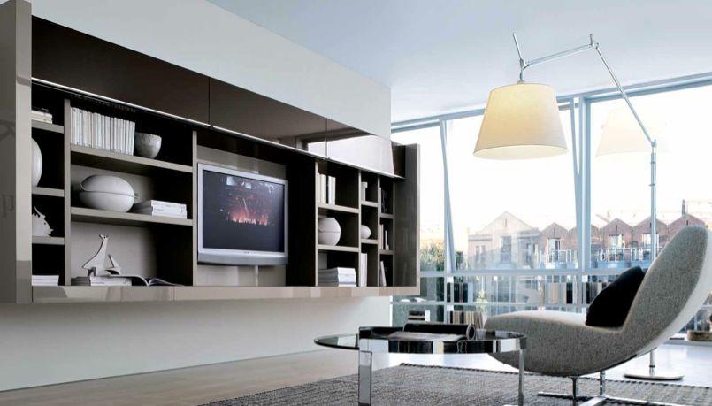 Misuraemme futuristic furnitures for modern living room designs retro futurism tv cabinet with book shelves frame for contemporary living room by misura