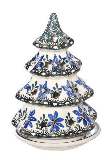 New Polish Pottery Christmas Tree Md Candle Luminary Boleslawiec Ca Pattern 1569 Ebay Boleslawiec Pottery Polish Pottery Polish Pottery Boleslawiec