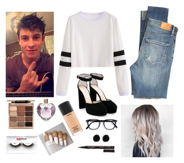 """""""YOU GUYS IM GOIBG TO THE SHAWN MENDES CONCERT IN JULYYY 😭😭"""" by brynlieboo ❤ liked on Polyvore featuring Citizens of Humanity, Jimmy Choo, Stila, Vera Wang, MAC Cosmetics, Smith & Cult and Morphe"""
