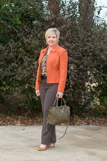 c29aafa818 Rust and leopard for the office #ShopStyle #shopthelook #MyShopStyle  #WearToWork #OOTD