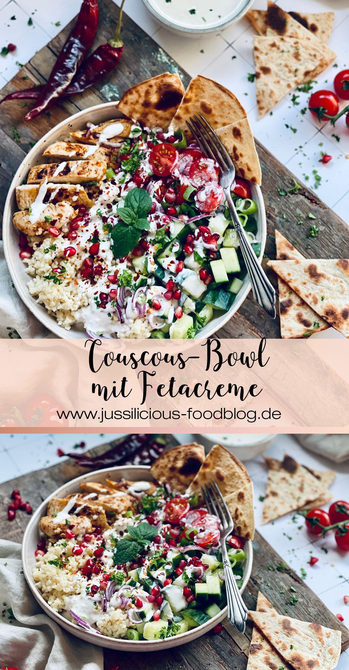 Couscous-Bowl mit Fetacreme Rezept - Jussilicious-Foodblog