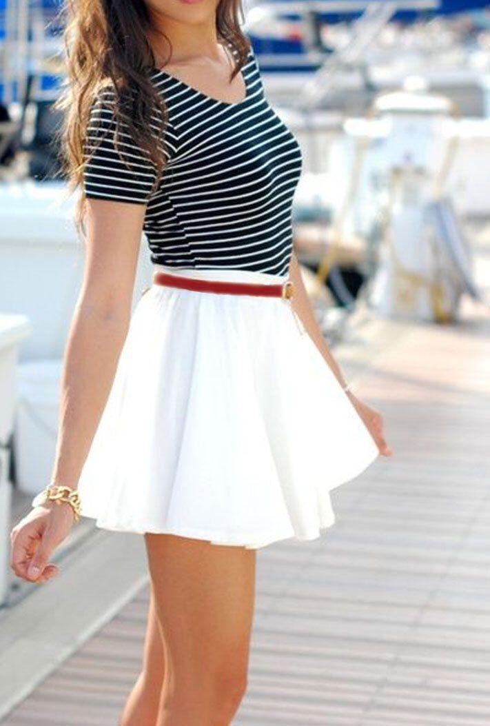Ähnliche Artikel wie Short Poly Blend Circle Skirt with waistband - WHITE - White Circle Skirt - White Summer Skirt -Twirl Skirt - Skater Skirt - free ship auf Etsy
