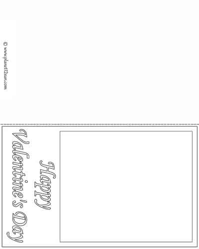 Blank Valentineu0027s Day Card worksheets for kids Pinterest - free postcard template download