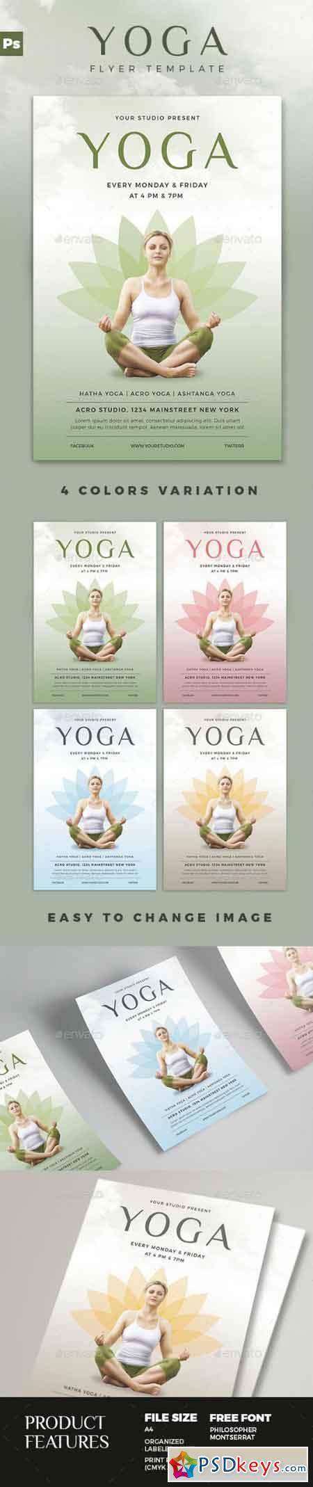Yoga Flyer 16831994 | Psd | Pinterest | Yoga, Print templates and ...