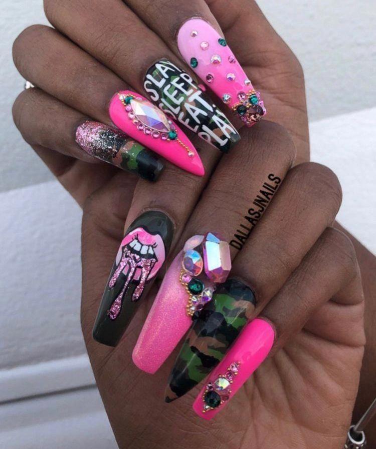Nails Acrylic Summer Funkynaildesigns Shiny Nails Designs Funky Nails Gorgeous Nails
