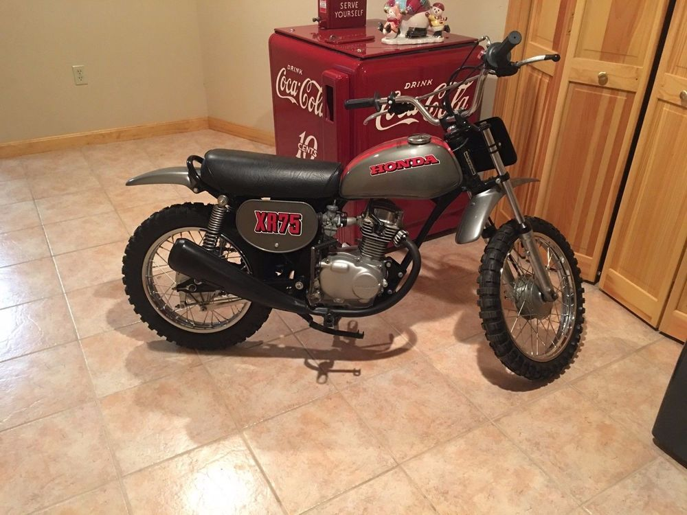 1973 Honda Xr75 K O Restored To Mint Condition Runs Great New Seat Cover New Paint Motor Completely Rebuilt Ebay Honda Mint Condition Bike