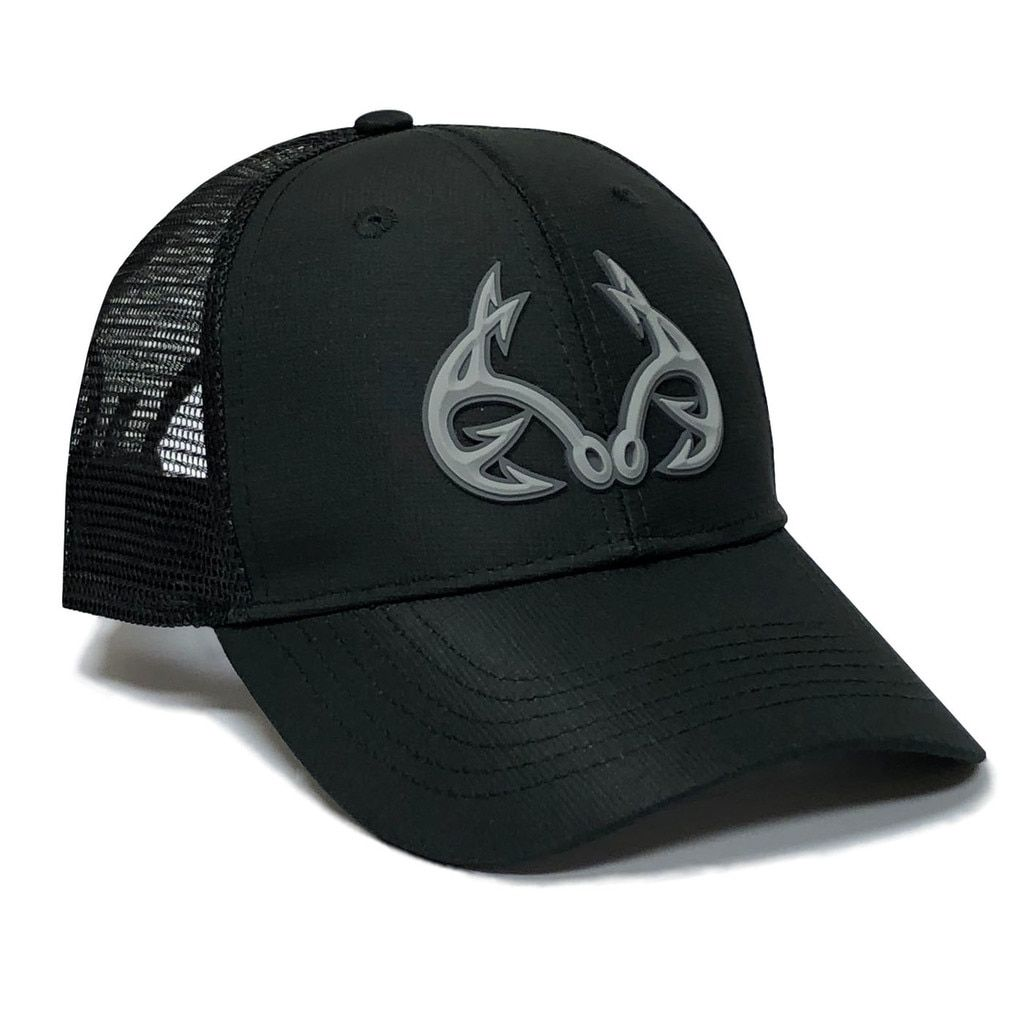 Realtree Fishing 3D Logo Black Hat  e4ae41b72b4f
