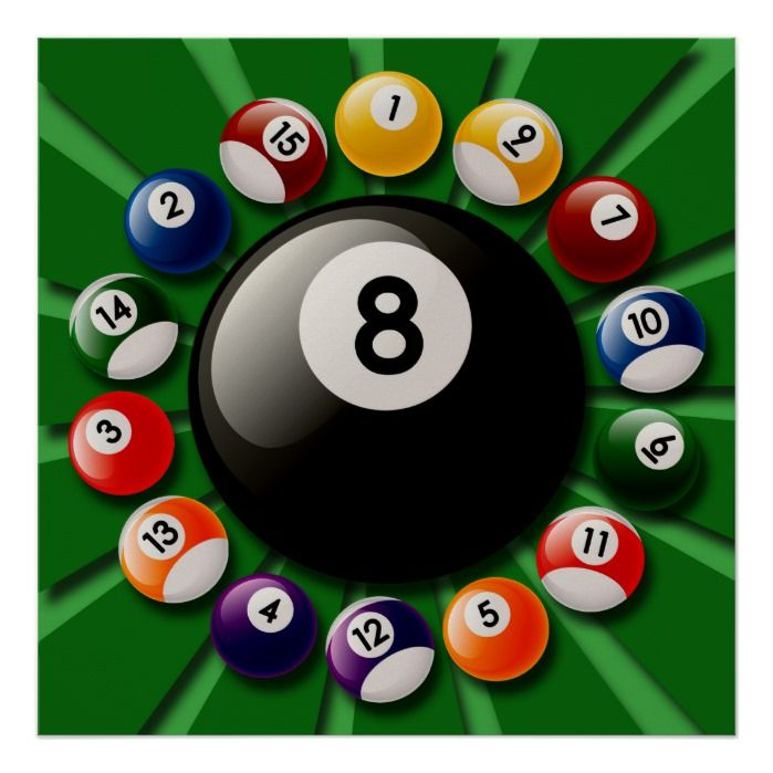 Billiards Balls Poster Zazzle Com Billiards Billiard Balls Pool Balls