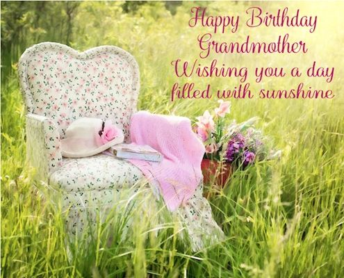 Birthday Ecards Care ~ Shower your grandma with love care and warmth of sunshine on her