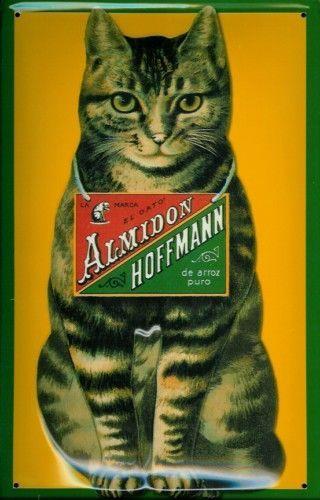 Almidon Hoffmann Cat Metal Tin Plate Sign Tin Sign 20 x 30 cm