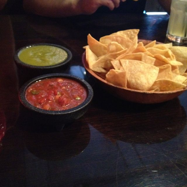 Chips and salsa at La Puerta in San Diego
