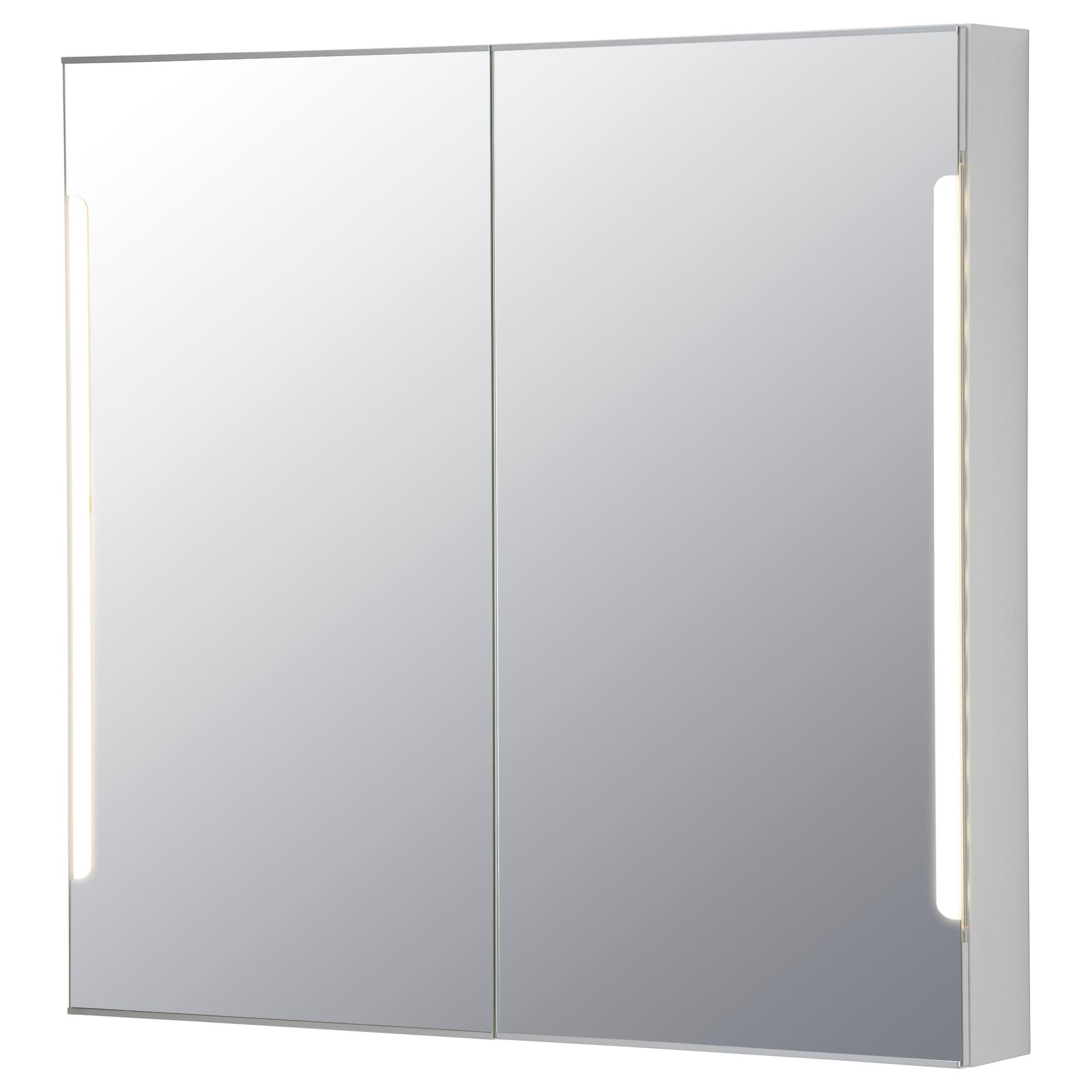 STORJORM Mirror Cabinet W 2 Doors Light White
