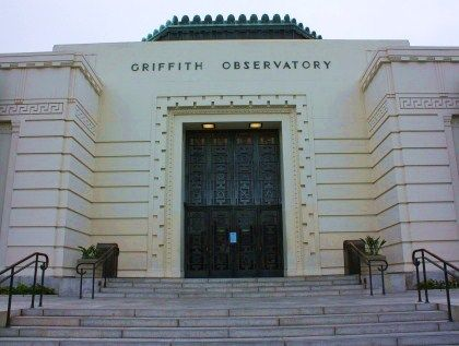 Front doors of Griffith Observatory, Los Angeles, CA... this is a must see if…