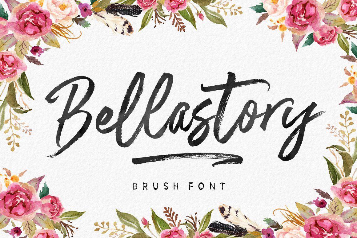 Bellastory Free script fonts, for