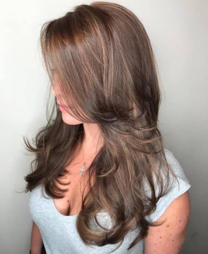 Langer Seitlich Gefiederter Schnitt Hair Hairstyle Women Women Hairstyles Longhair Longhairsty Haarschnitt Lange Feine Haare Haarschnitt Lange Haare