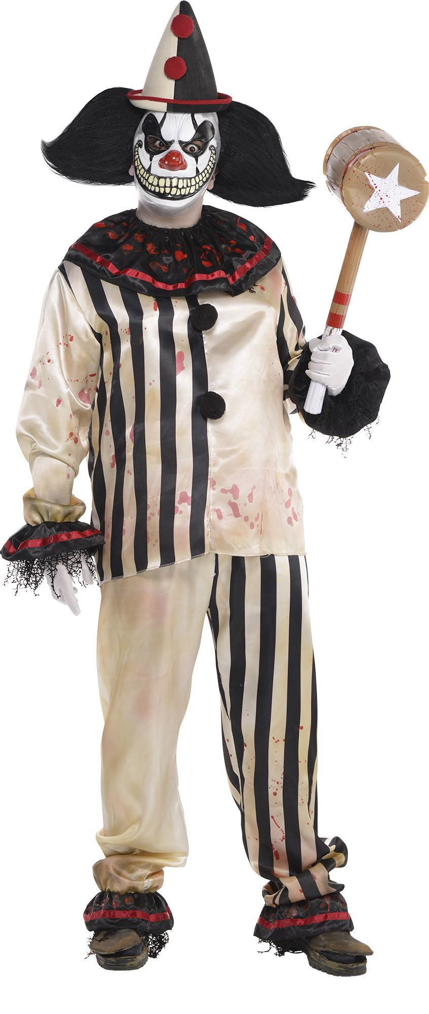 Freak Show Bloody Clown Shirt u0026 Pants features matching striped top and pants. Our blood-stained black and white clown costume is sure to give everyone the ...  sc 1 st  Pinterest & Create Your Own Look - Menu0027s Freak Show Clown #1 | Scary Clowns ...
