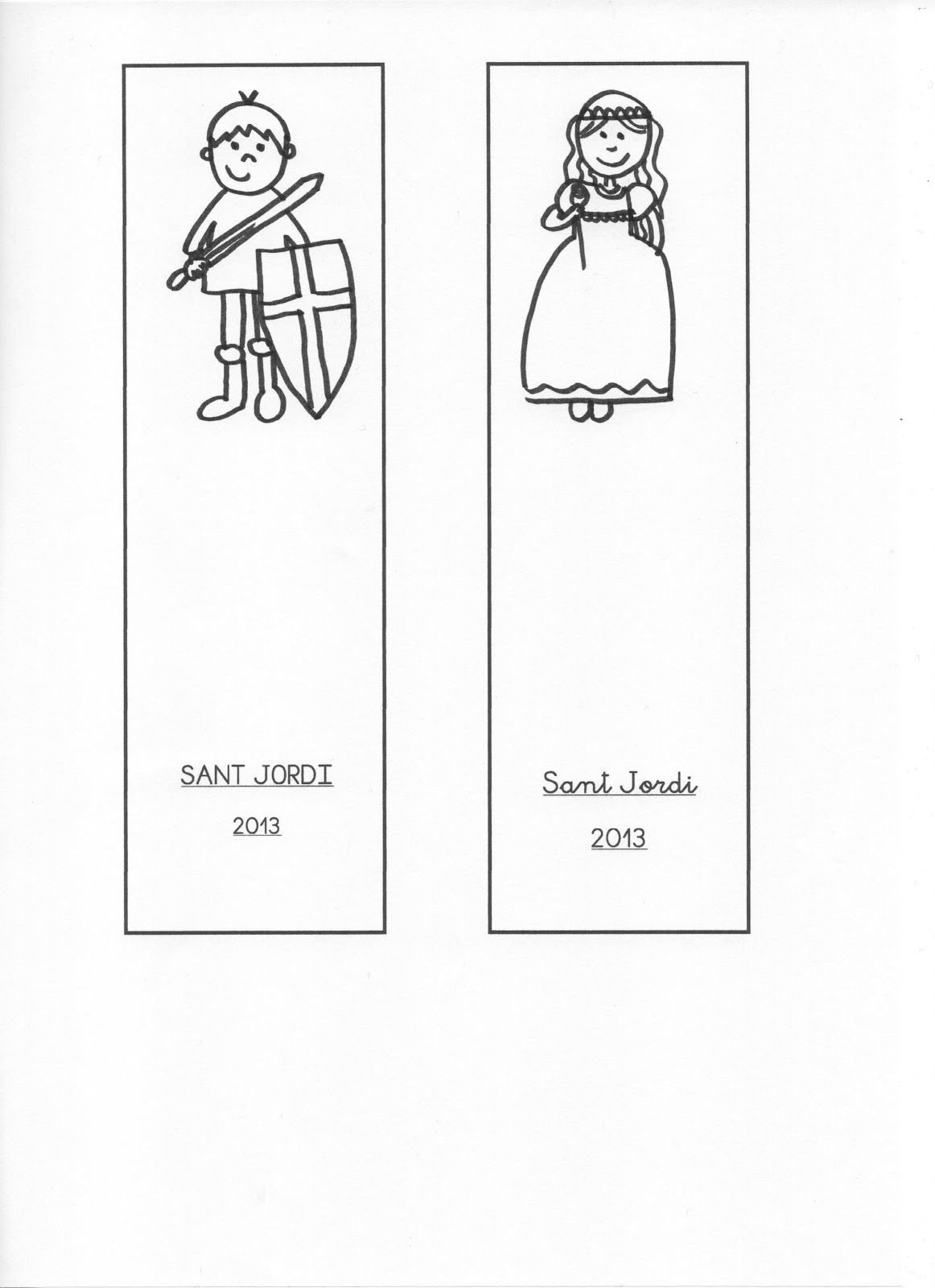 punts de llibre | Sant Jordi | Pinterest | Jordi, Princesas y Colorear