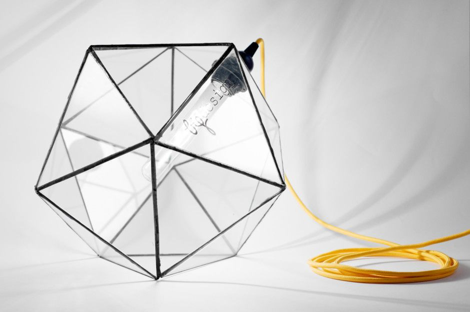 Acqua Icosahedron Glass Lamp by BIGDESIGN made in Italyop