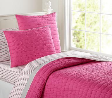 Branson Euro Quilted Sham, Aqua/Gray | Quilt bedding, Duvet and ... : twin pink quilt - Adamdwight.com