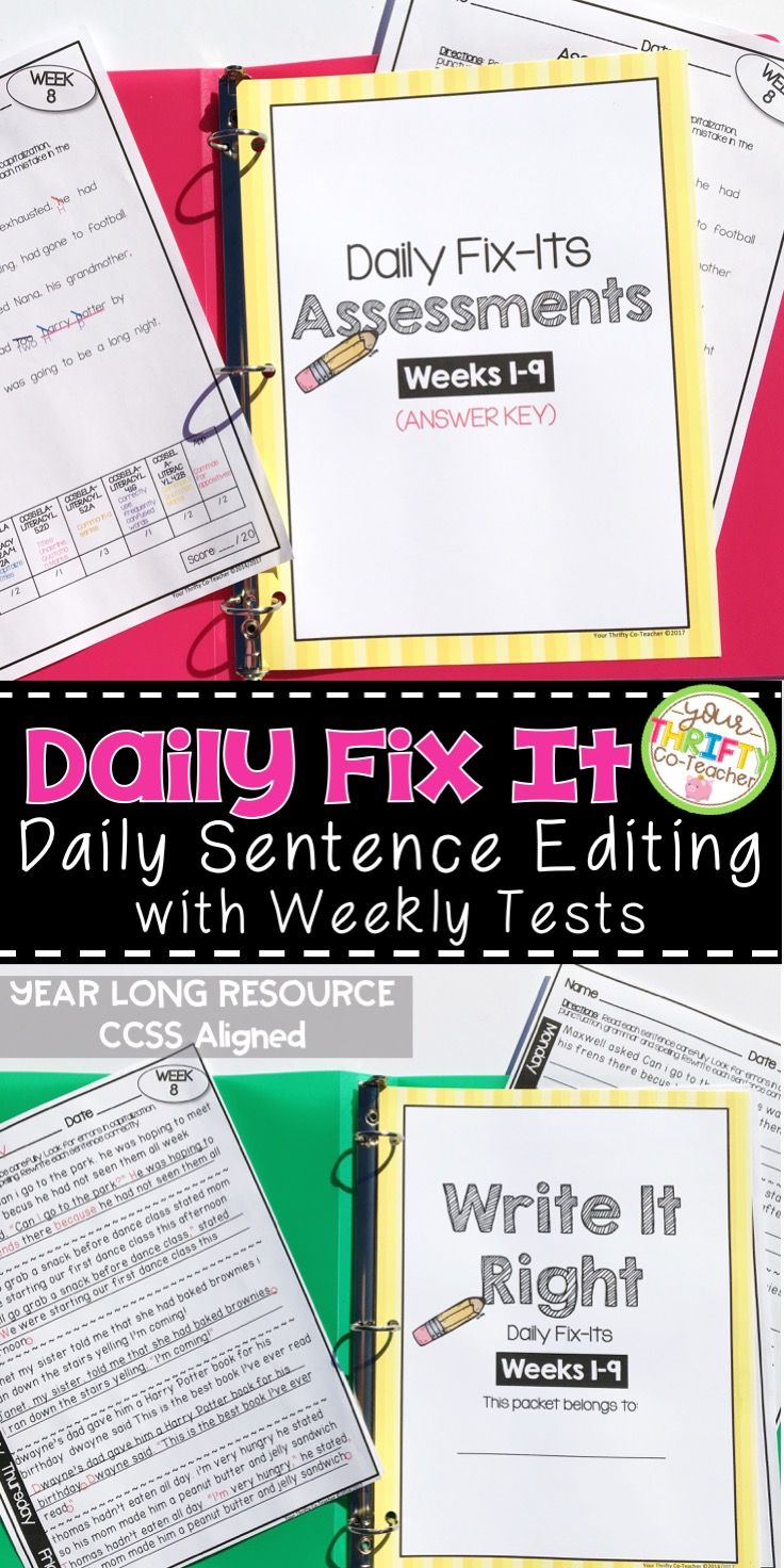 5th Grade Daily Oral Language Sentences Morning Work Daily Language Review Daily Oral Language Sentence Editing Daily Language Review