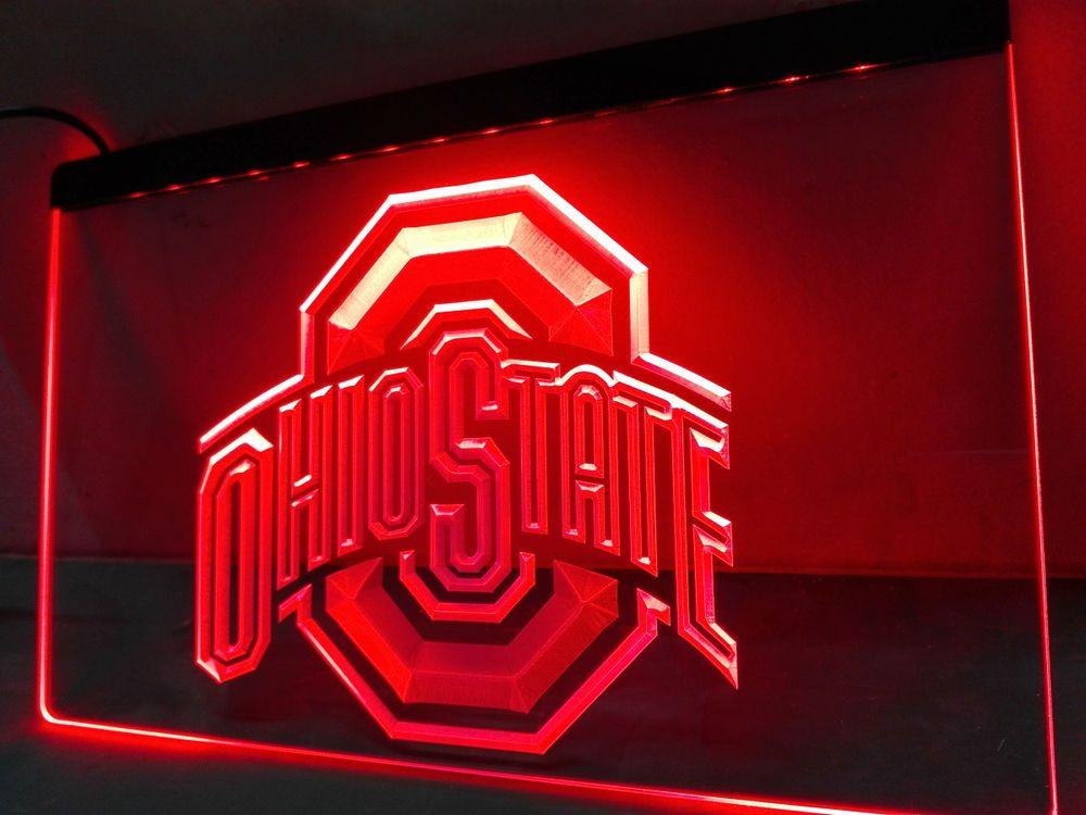 LD256- Ohio State LED Neon Light Sign home decor crafts-Sign Light Neon Bar