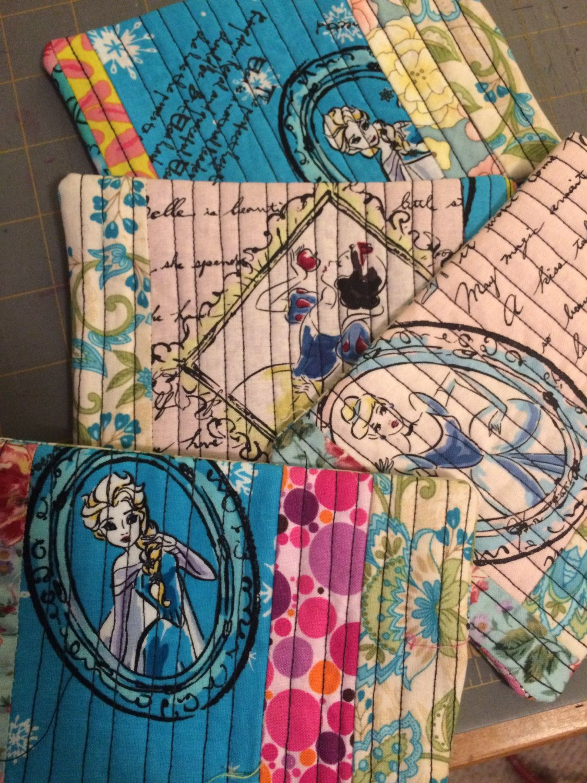 Princesses Mug Rugs by Roxymadteaparty on Etsy