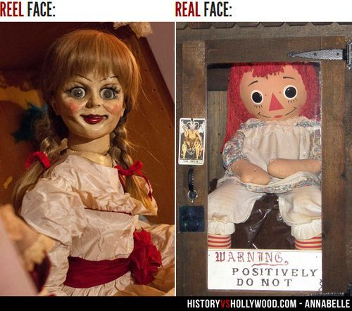 Annabel. Evil Doll, Movie Vs Real Life Pic. Http://www