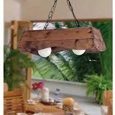 resultado de imagen para lampara rustica colgante de madera