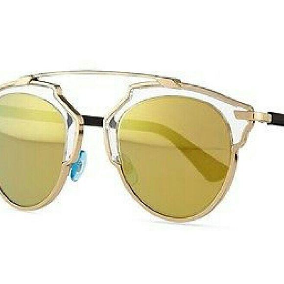 Dior so real sunglasses New and Authentic Dior so real gold glasses. Gold  mirror lenses c4948e3e14