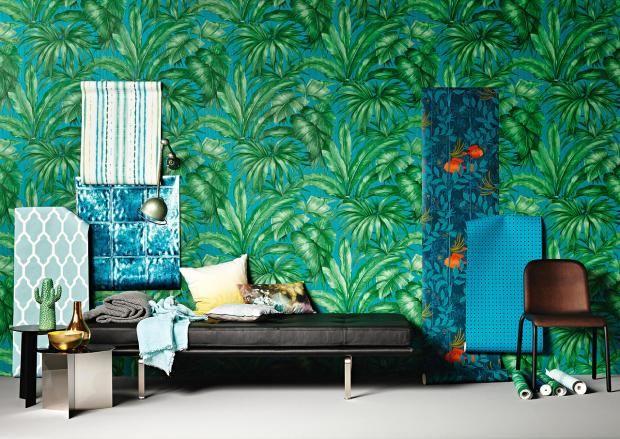 Tapeten in Blau- und Grüntönen - exzentrisch oder schlicht ...