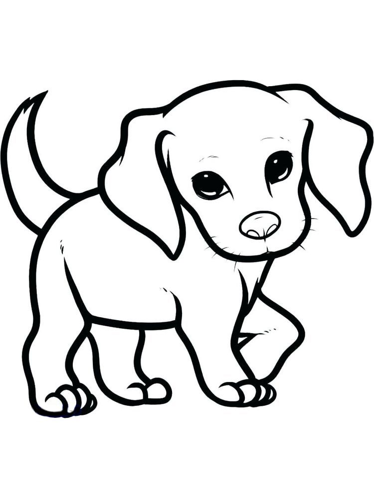 Puppy Coloring Pages Pdf. Puppies Are Small Dogs. Puppies Are Animals That  Love To Socialize And Spend Most Of… Puppy Sketch, Dog Drawing Simple,  Cute Dog Drawing