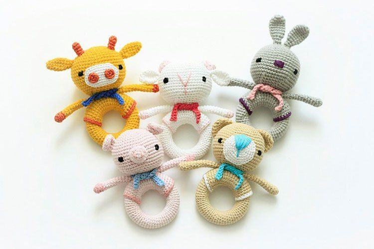 Crochet toy rattle patterns