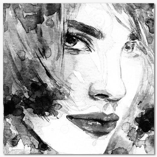 Epingle Sur Tableau Portrait Aquarelle