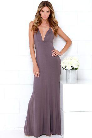 18c82804b2 Dusty Purple Dress - Maxi Dress - Halter Dress -  48.00
