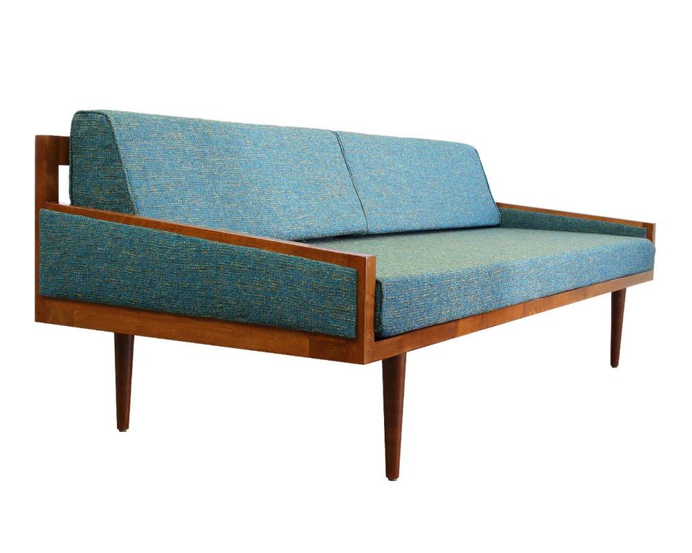Mid Century Modern Daybed Casara Modern Executive Sofa Daybed Etsy In 2020 Modern Daybed Mid Century Modern Daybed Daybed Sofa