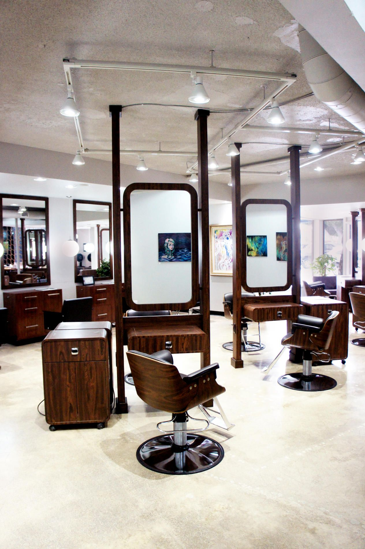 salon lighting ideas. lighting for hair salons in the salon along with innovative artwork and fantastic ideas s